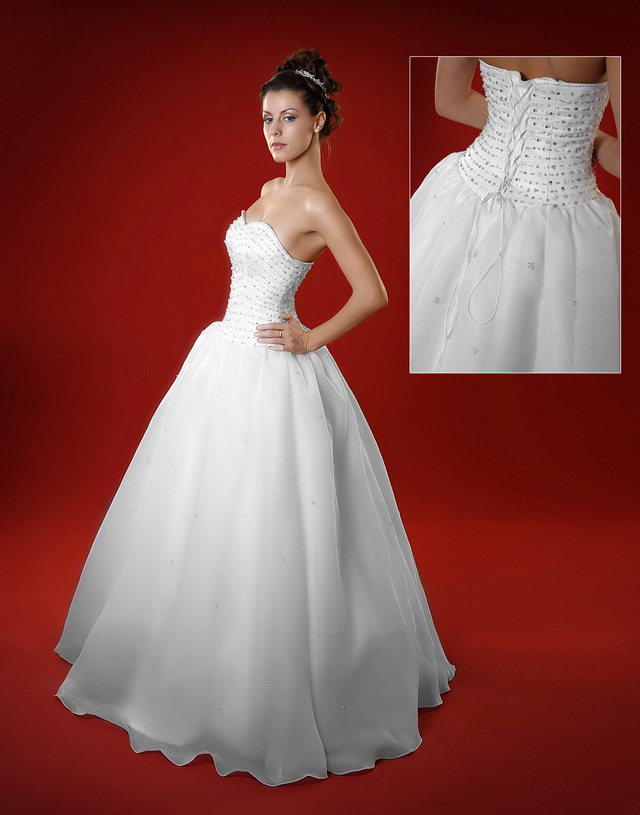 Vestiti da sposa senza spalline