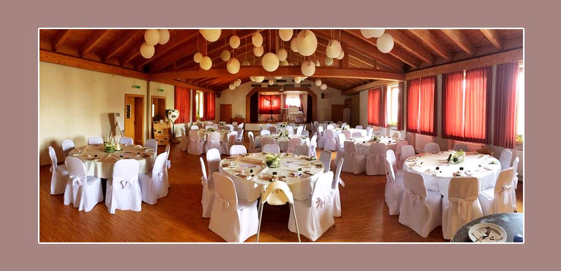 Hochzeitsdeko Bürgersaal Brendlorenzen Bad Neustadt an der Saale